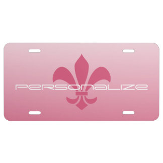 Fleur de Lis Gradient Faded Light *Pick Any Color* License Plate