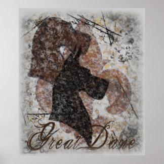 Fleur-De-Lis Great Dane Poster