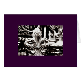 Fleur de Lis [Greeting Card] on Purple Card