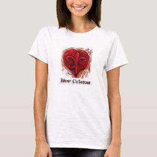 Fleur De Lis Heart T-Shirt