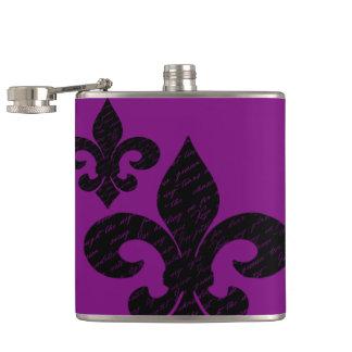 Fleur De Lis Hip Flask
