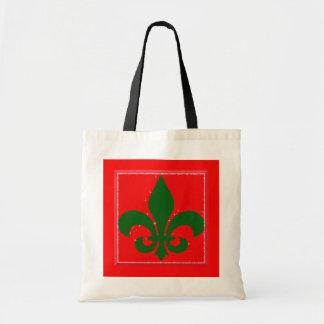 Fleur de Lis Holiday Bag
