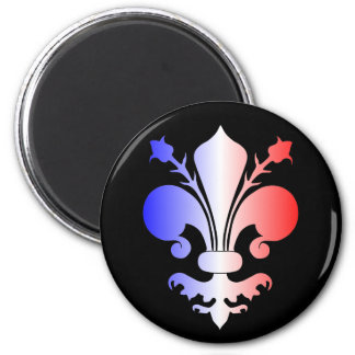 Fleur de lis in blue, white, and red magnets
