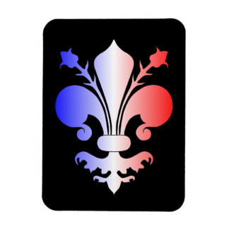 Fleur de lis in blue, white, and red flexible magnet