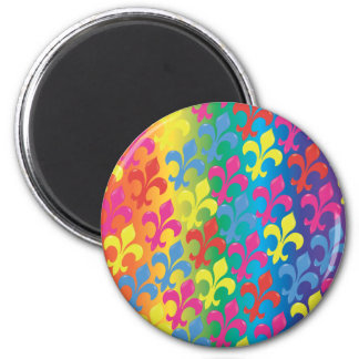 Fleur De Lis in Full Refrigerator Magnet