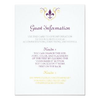 Fleur de Lis information card