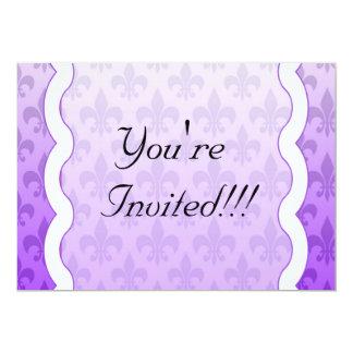 Fleur De Lis Invitation - Purple