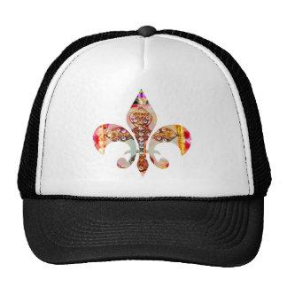 Fleur de lis Jewel Pattern Flowers Floral Gems fun Trucker Hat