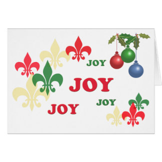 Fleur de Lis Joy Holiday Greeting Card
