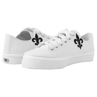 Fleur De Lis Low-Top Sneakers
