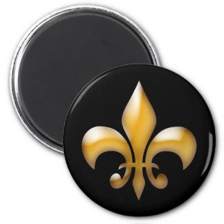 Fleur de Lis Magnet in Black and Gold
