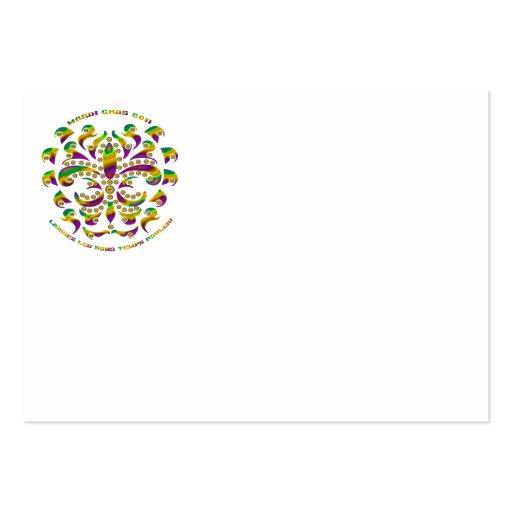 fleur de lis Mardi-Gras 2011 V-2 Large Business Cards (Pack Of 100)