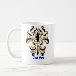 fleur de lis Mardi Gras Please View Notes Coffee Mug