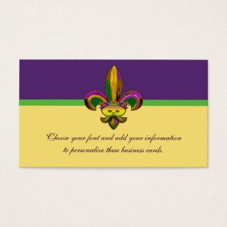 Fleur de lis Mask Business Card