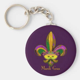 Fleur de lis Mask Keychain