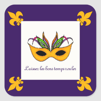 Fleur de Lis Mask Mardi Gras stickers