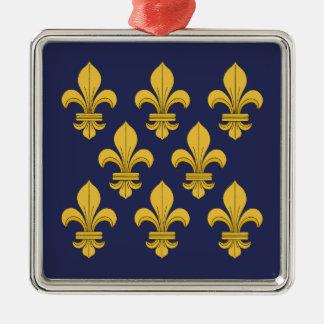 Fleur-de-lis Metal Ornament
