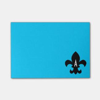 Fleur de Lis Monogram Template Post-it Notes