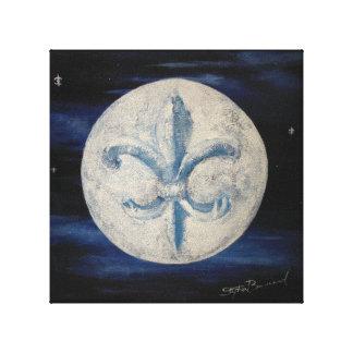 "Fleur De Lis Moon 10"" x 10"" Canvas Print"