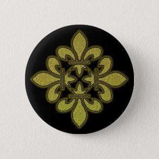 Fleur de lis Mosaic Art 2 Inch Round Button