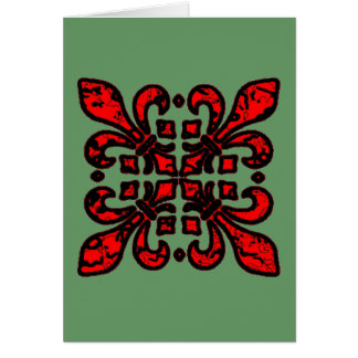 Fleur De Lis Multiple Red Card