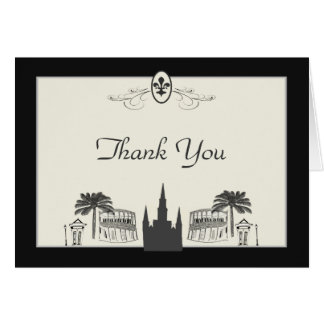 Fleur de Lis New Orleans Scene Thank You Card