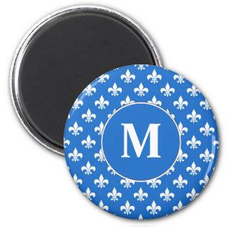 Fleur-de-lis on Blue Magnets