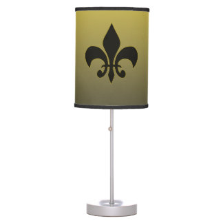 Fleur de lis on Gradient - Black to Gold Table Lamp