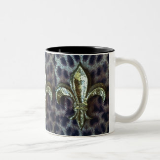 Fleur de lis on Leopard Mug