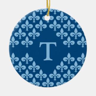 Fleur-de-Lis ornament, customize Ceramic Ornament
