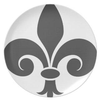 Fleur-De-Lis Party Plates