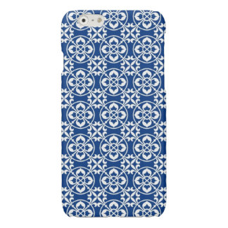 Fleur De Lis Pattern in Blue and White