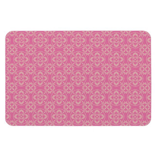 Fleur De Lis Pattern in Pink Rectangular Photo Magnet