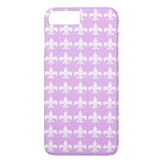Fleur-de-lis Pattern Lavender Purple Design iPhone 7 Plus Case