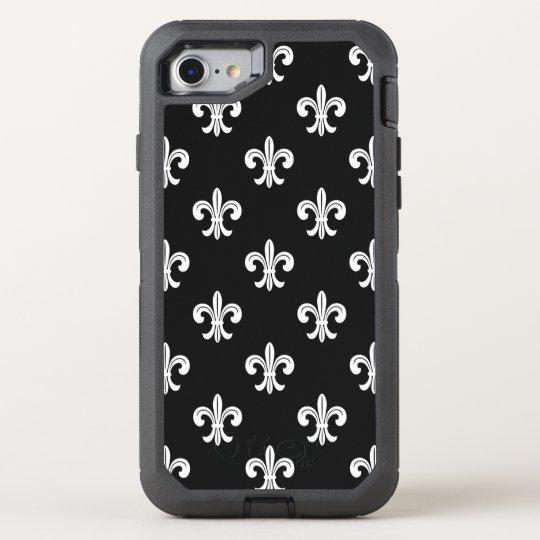 Fleur De Lis Pattern OtterBox Defender iPhone 8/7 Case