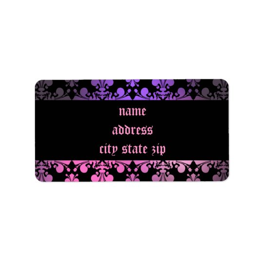 Fleur de lis pattern pink purple black