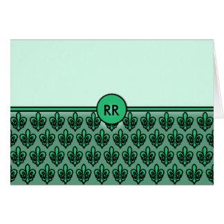 Fleur de Lis Patterned NoteCards to Personalize Card