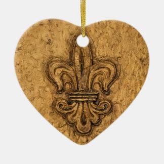 Fleur de Lis | Personalized Christmas Ceramic Ornament