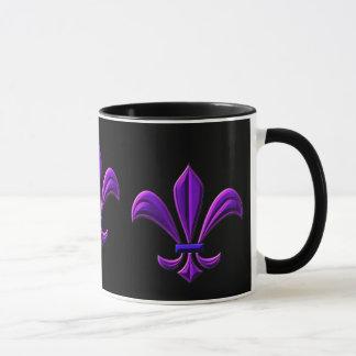 Fleur de lis - purple mug