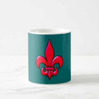Fleur De Lis red talk Coffee Mug