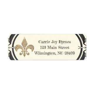 Fleur de lis Return Address Design