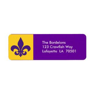 Fleur de Lis Return Address Labels