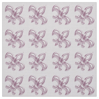 Fleur de Lis royal pink metallic  pattern Fabric