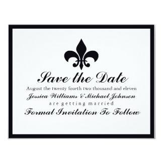 Fleur de Lis Save the Date Card