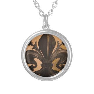 Fleur De Lis Silver Plated Necklace