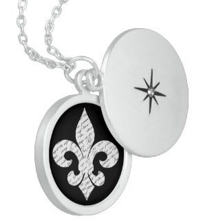 Fleur De Lis Sterling Silver Necklace