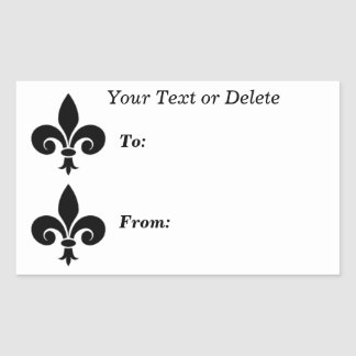 Fleur de lis symbol To From Large Gift Tag Sticker