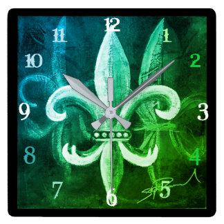 Fleur De Lis Time Clocks