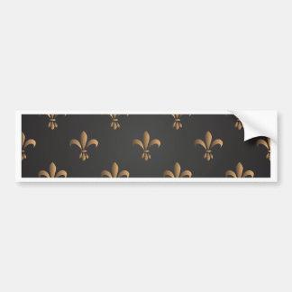 Fleur de lis, vintage,elegant,chic.classy,pattern bumper sticker