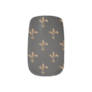 Fleur de lis, vintage,elegant,chic.classy,pattern, minx nail art